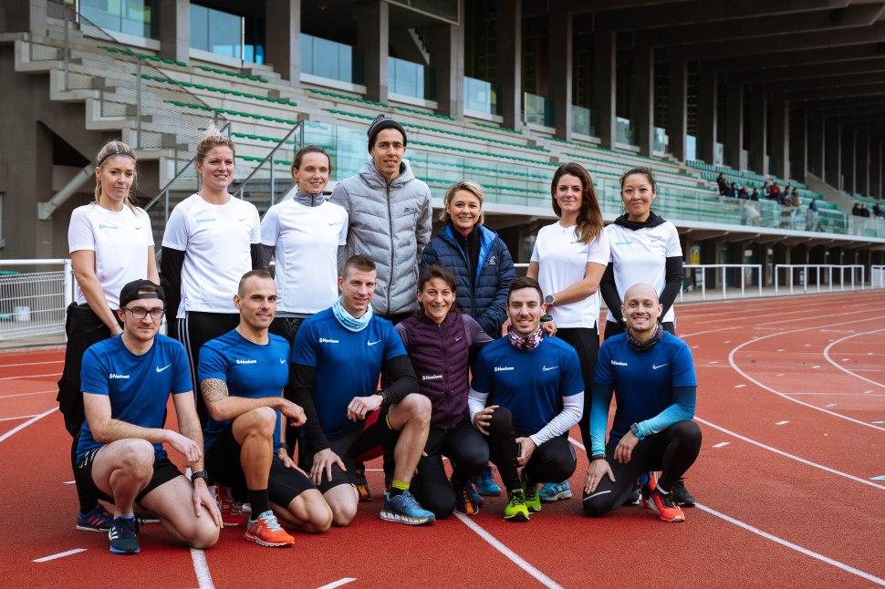 Team Stimium marathon de paris